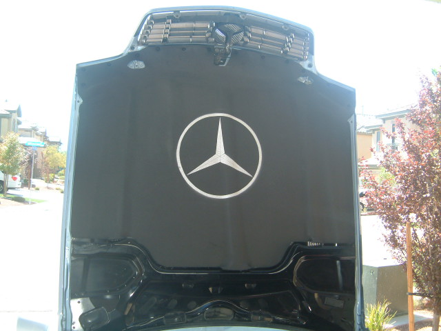 Mercedes Benz SL500 500SL SLR SL Custom Benz Roadster Hood Pad Liner with Logo